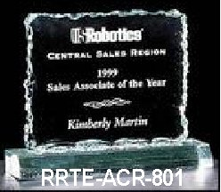 acrylic award sample - rrte-acr-801 small view