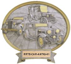 antique car resin oval image