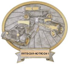 hot rod car resin oval image
