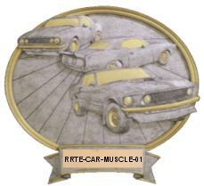 muscle car resin oval image