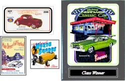 Dash Plaques and Wall Plaques for Car Shows