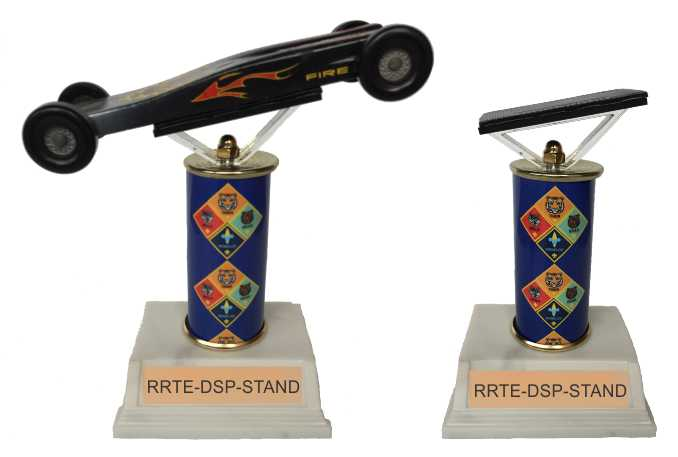 Pinewood Derby display stand for car
