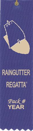 Raingutter Regatta ribbon with Pack # and Year