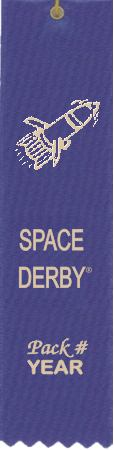 Space Derby ribbon with Pack # and Year